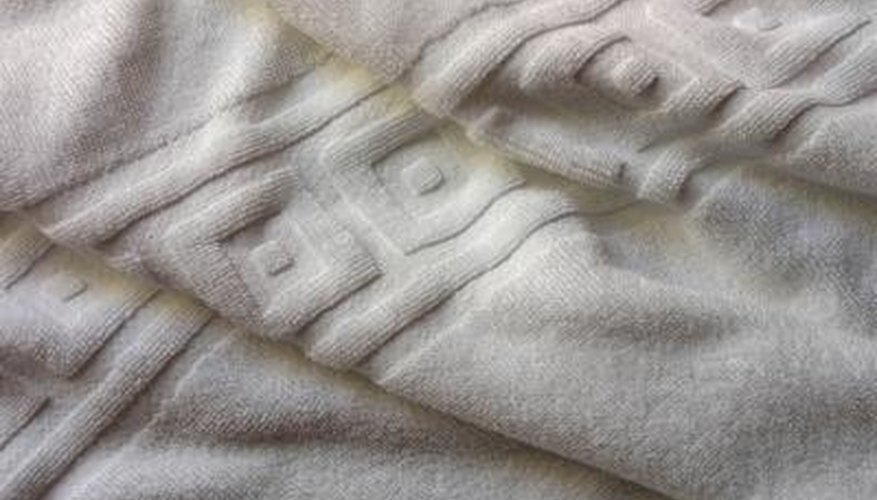 Bath towels are usually plain, except for a stripe of embellishment.