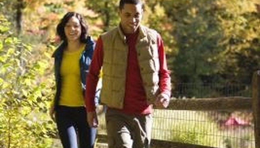 Suggest taking your partner on a walk to find peace and quiet.