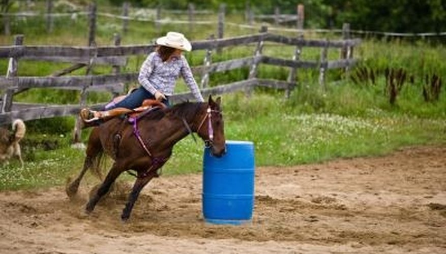 Barrel racers are not required to wear protective headgear.
