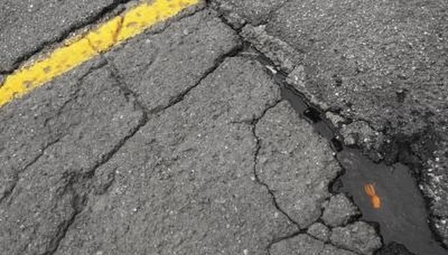 Deteriorating pavement is usually a result of improper site preparation and material.