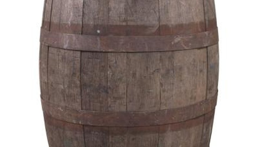 Barrels have been used to collect and store water and other items for centuries.