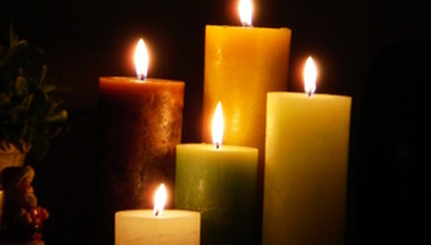 Beeswax candles burn longer than paraffin candles.