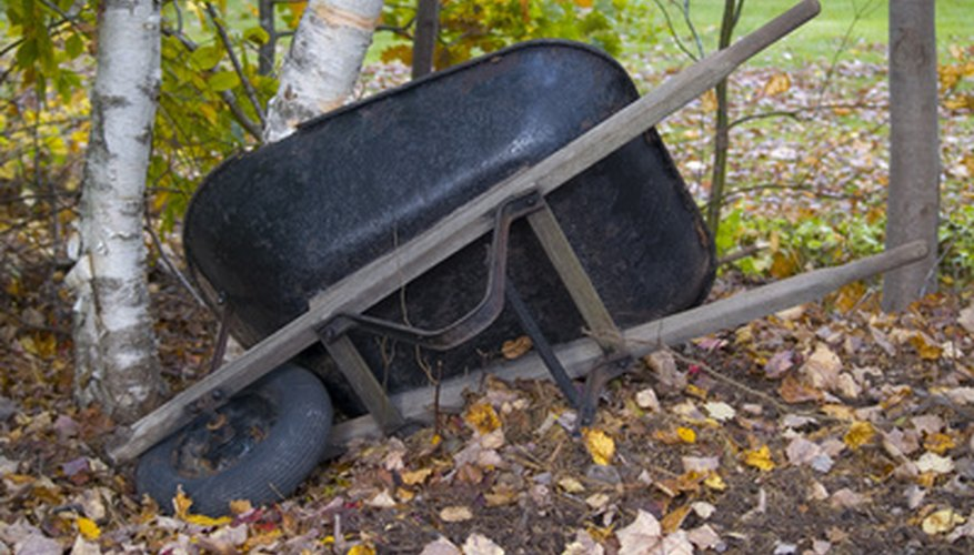 A run-down wheelbarrow is often easy to repair.