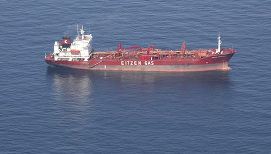 A cargo or oil carrier has a high dead weight.