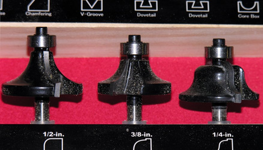Router bits are used to cut dovetail joints in wood.