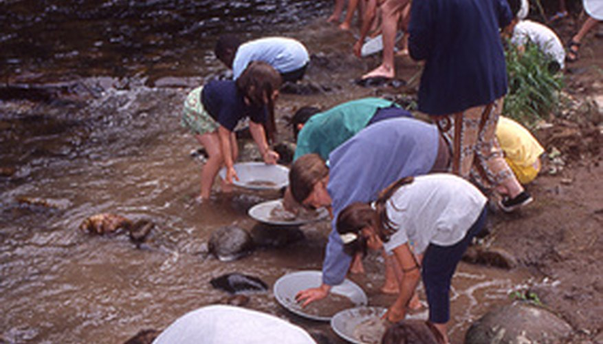 Gold panning remains a popular tourist activity.