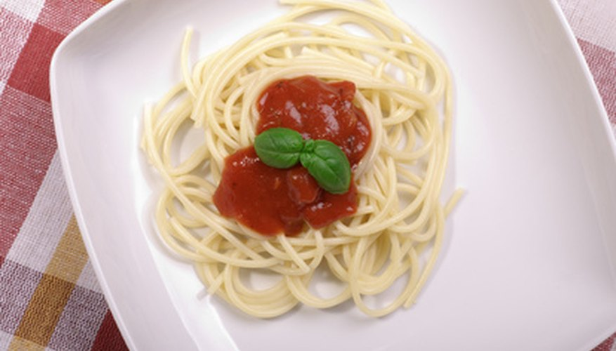 Whole-grain pasta is a good source of complex carbohydrates.