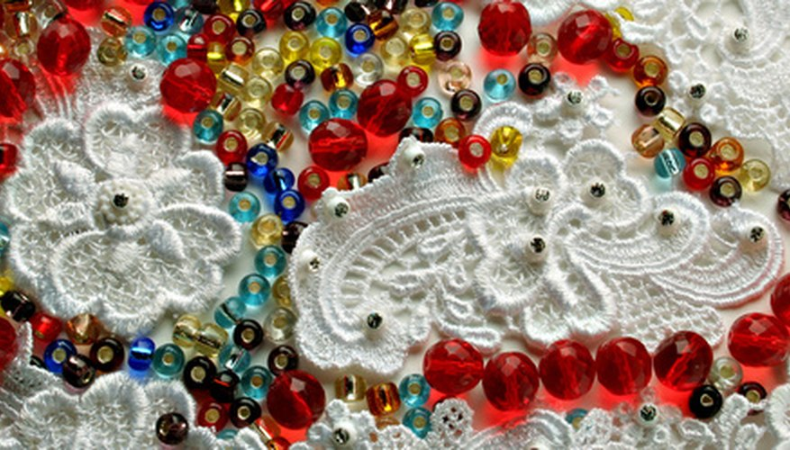 Beads and fabric for a beaded bag