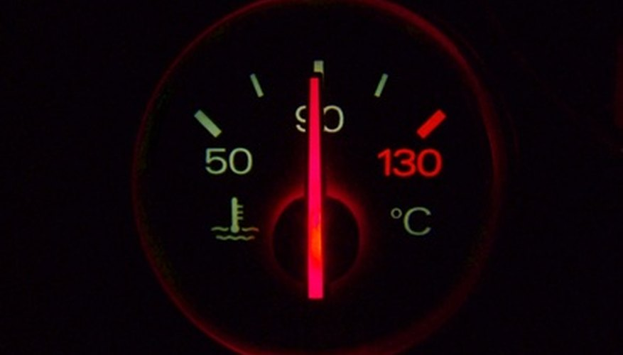 A temperature gauge connects to a termperature sensor.