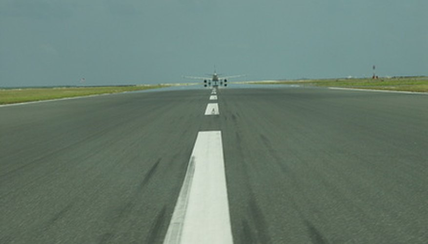 The runway slope can be ascending or descending, depending on your positioning.