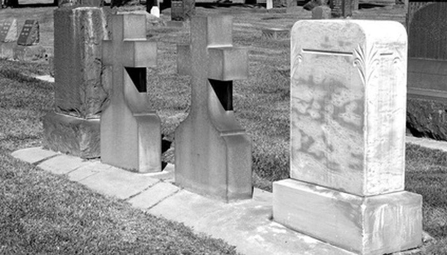 Grave markers are thought to originate from stones being placed on graves.