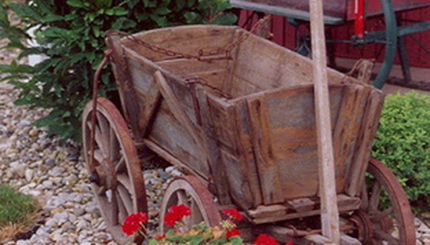 Old wagons can be restored to use as decorations or for functional uses.