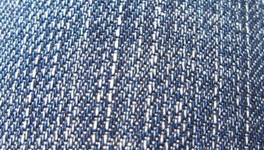 Worn denim fabric is a great addition to