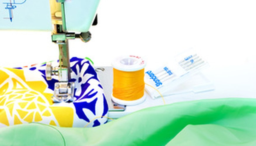 Sewing machines make more accurate stitching possible.