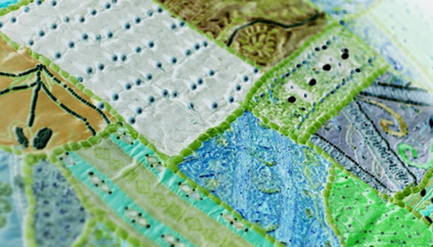 A patchwork quilt is one type of quilt made of fabric pieces.
