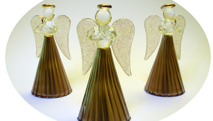 You can make spirited decorations with your paper angels.