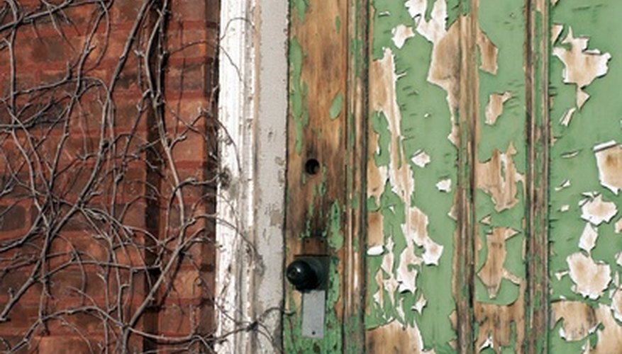 Restoring a door can make your home more inviting.