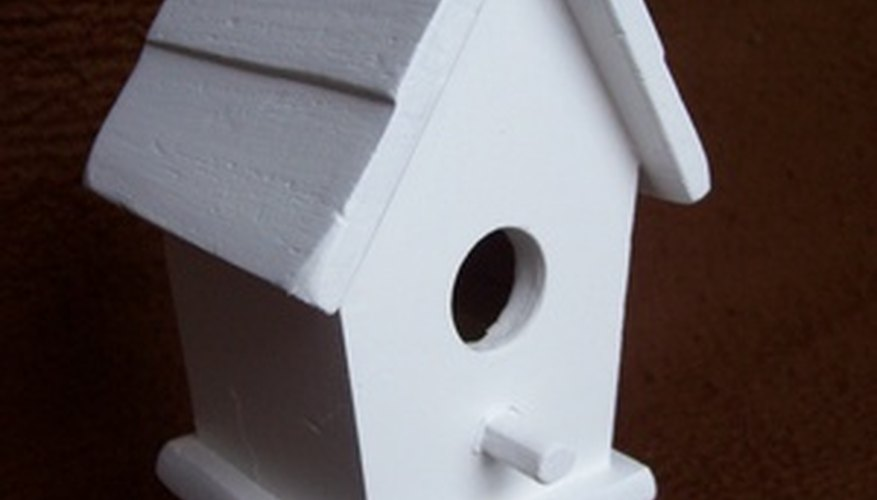 A birdhouse is a common woodworking project for beginners.