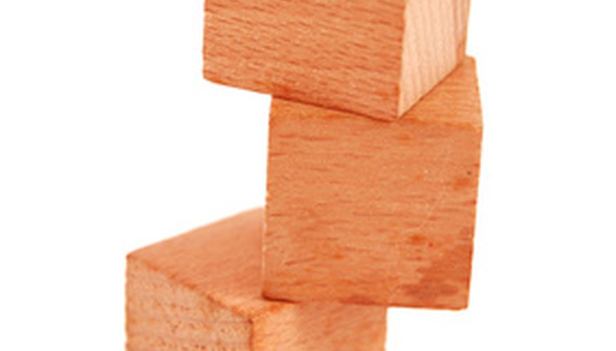 Stanley Block planes can be used for ensuring the sides of a block are flat.