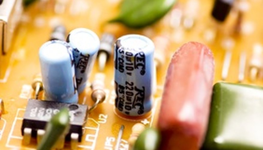You can use a simple circuit board to charge a capacitor.