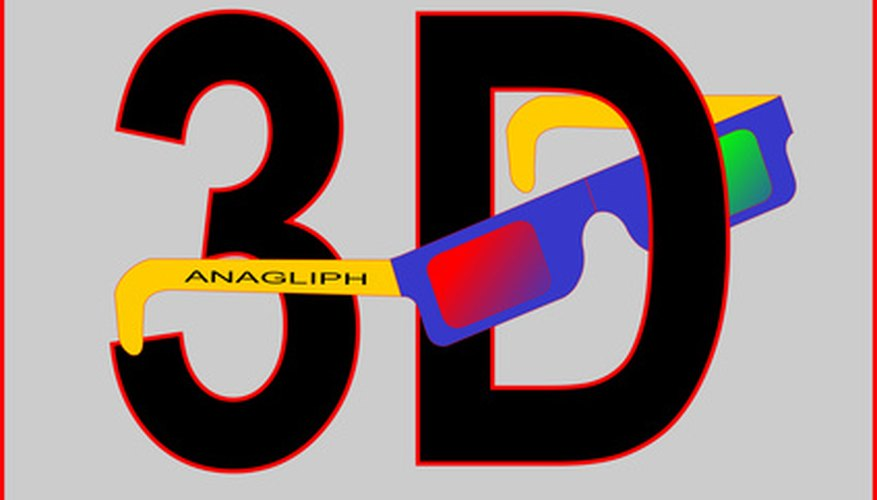 Create your own 3D glasses.