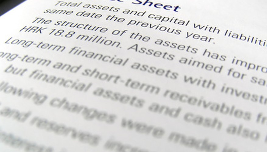 In a balance sheet, assets minus liabilities equal equity.