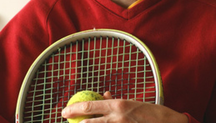 Different spots on a tennis racket vibrate in different ways.