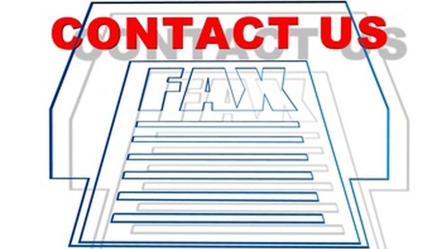 a fax cover sheet