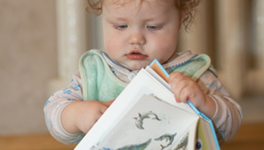 Use books to promote math skills in infants.