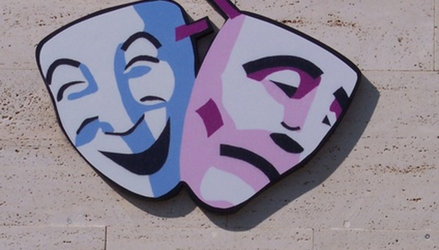 The comedy and tragedy masks are theater staple.
