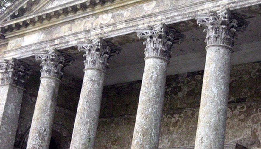 Roman columns were chiefly built as support structures.