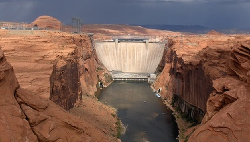 Dams help to change the physical landscape