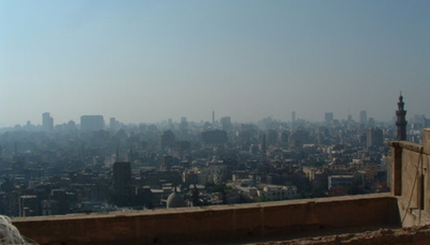 Smog is  typically present only in urban areas such as cities.