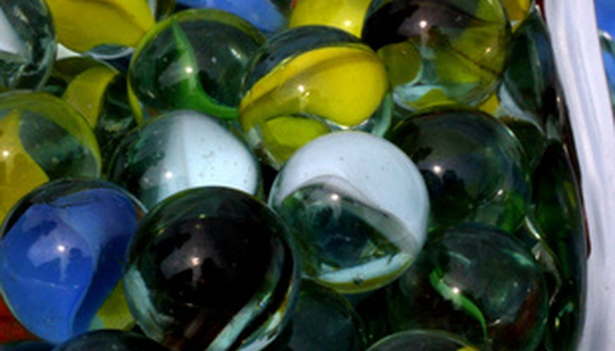 The color and patterns of marbles help transform plain items into decorative ones.