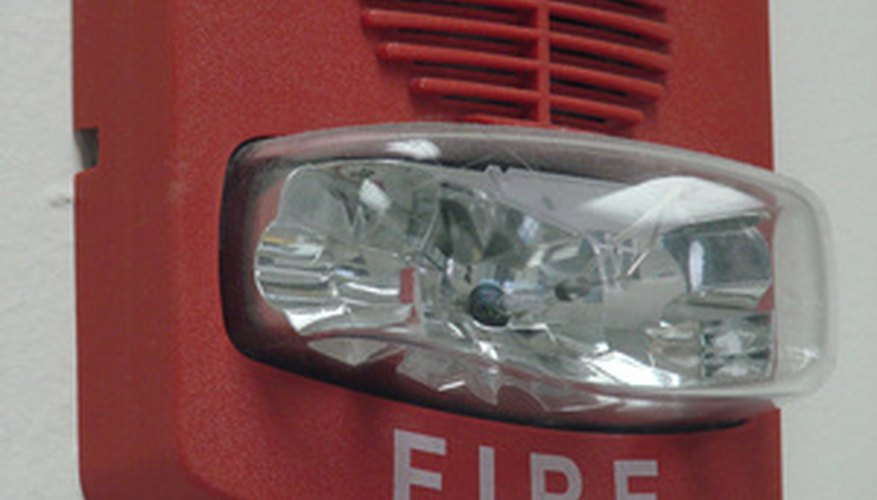 Fire Alarm Horn and Light