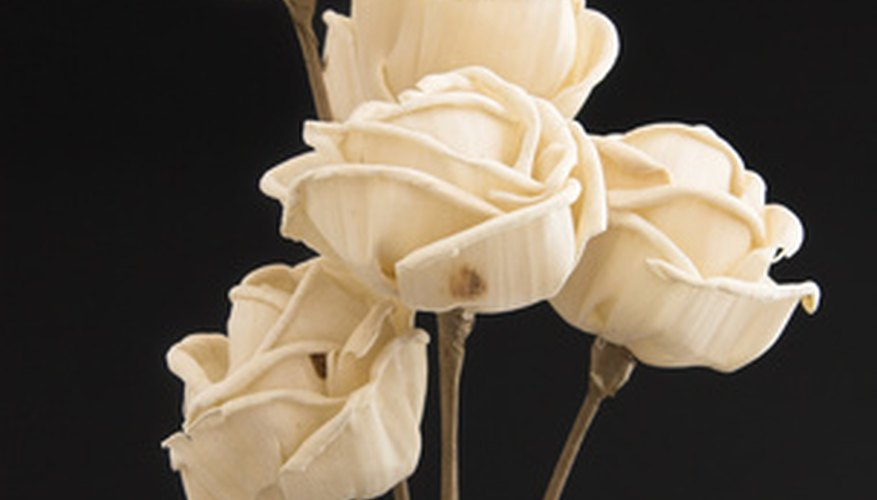 Making paper roses is quick, easy and produces elegant results.