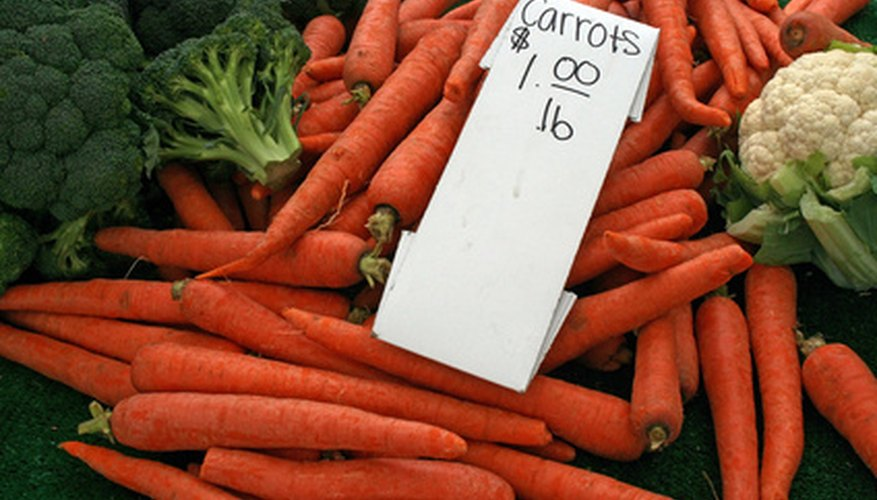 Carrots are priced using market pricing.