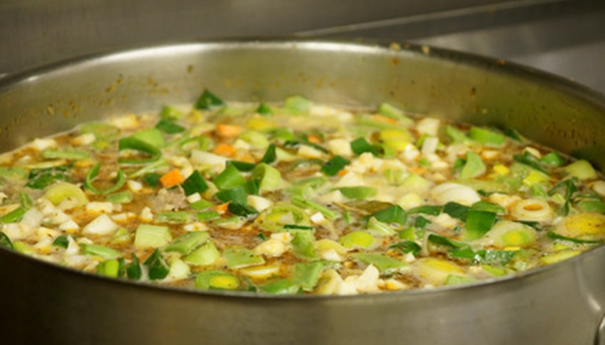 Many varieties of soup are made fresh at soup restaurants.
