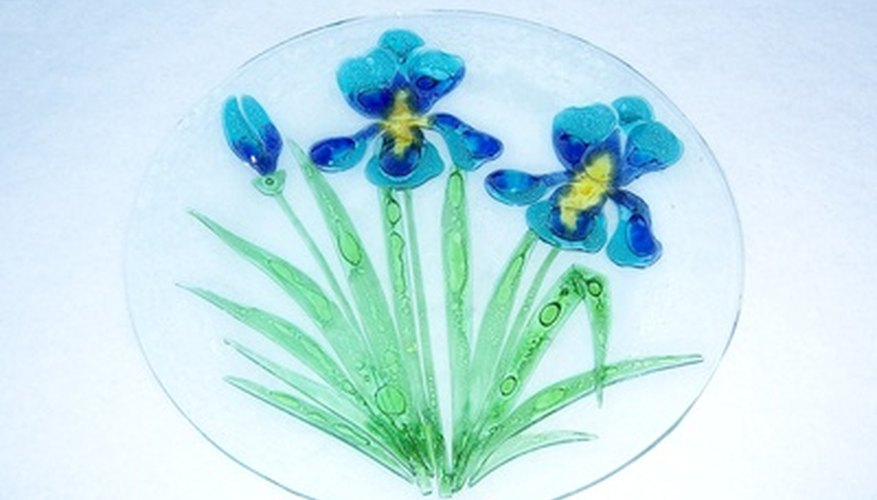 Drill holes in your glass plates to create wall art.