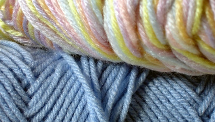 Yarns come in different thickness.