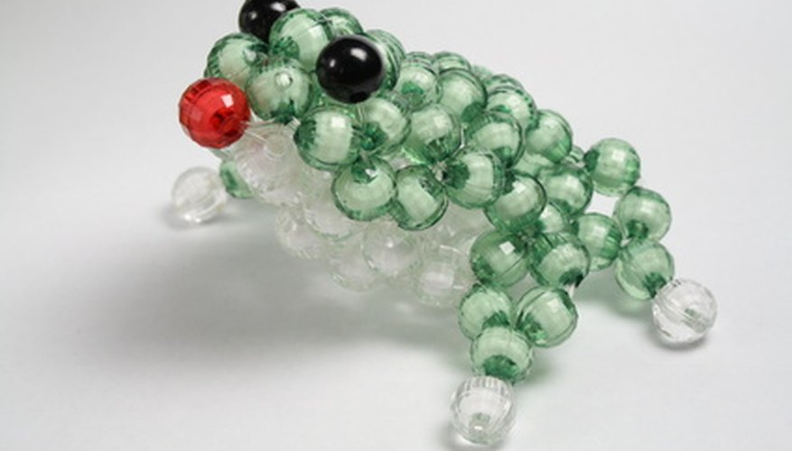 Use Swarovski beads in the same way as inexpensive pony beads to create three-dimensional animals.
