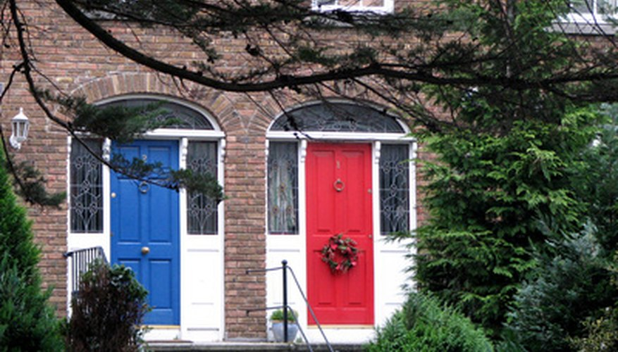 Painting wooden doors gives you a lot of options for adding color.