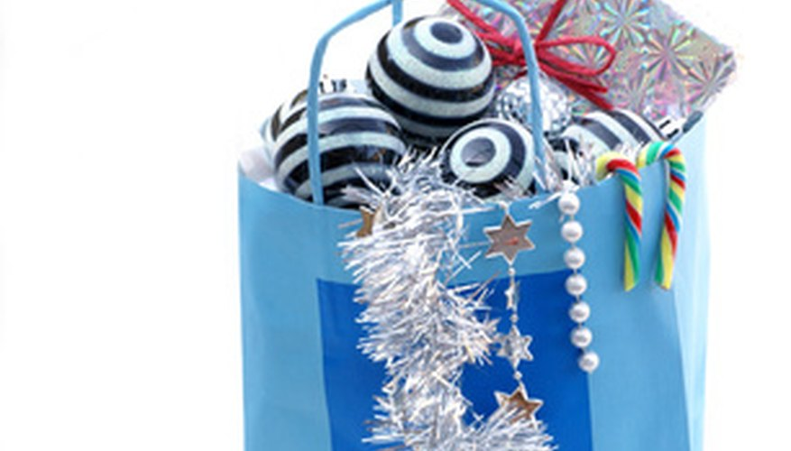 Make your own gift bags out of recycled paper.