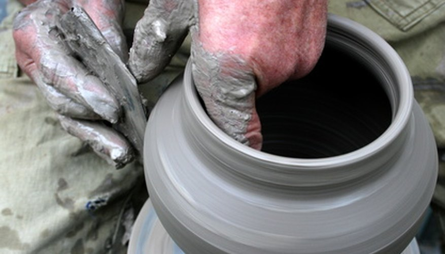 A potter's wheel is an important tool in creating pottery.