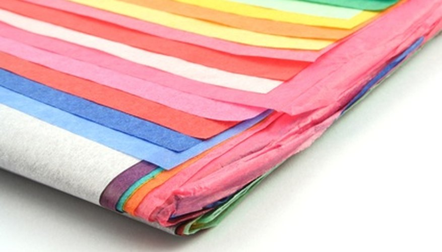 Tissue paper can help with sewing fabrics like chiffon and silk.