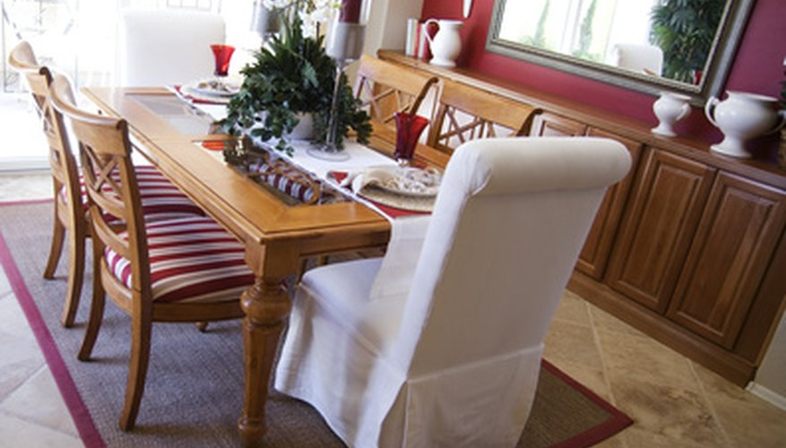 A table runner is an alternative to a full tablecloth.