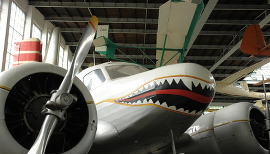 Modern plane with shark mouth.