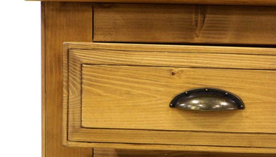 Dresser drawers can tell you a lot about age.