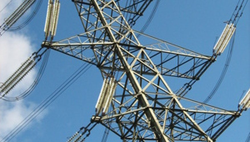 High Tension Wires Are Routed Well Away From Other Objects