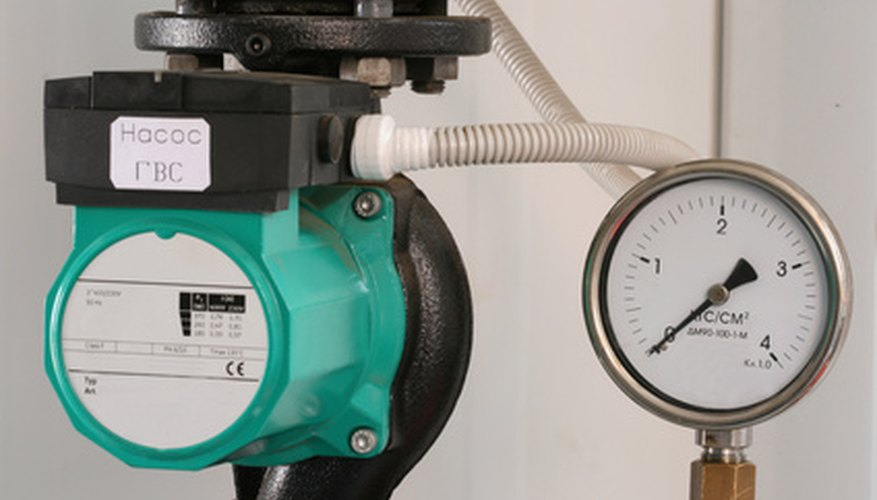 The horsepower of a pump or turbine can be calculated by knowing the flow rate of the system and the total head the system can exert.